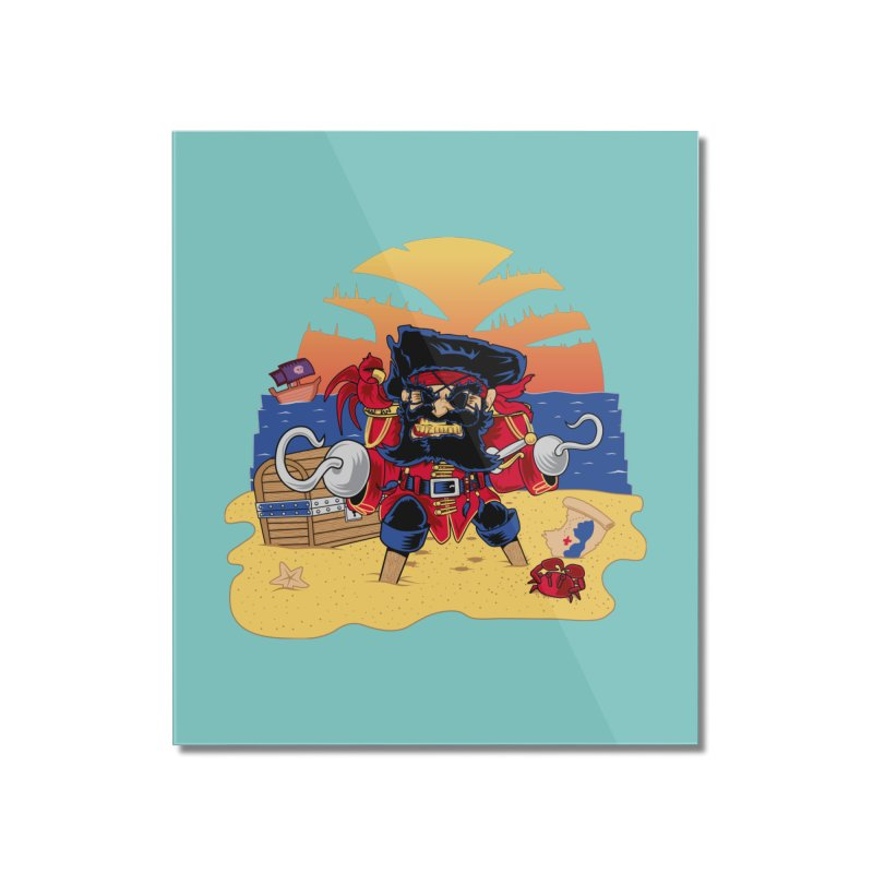 Lucky the Pirate Home Mounted Acrylic Print by nickv47