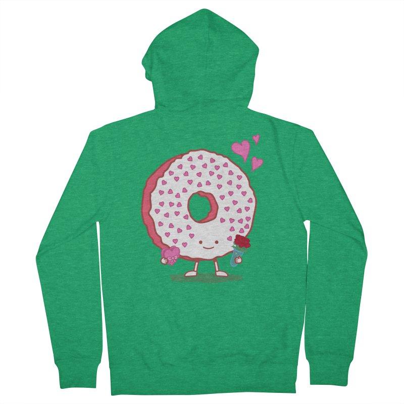 Valentine's Day Donut Men's Zip-Up Hoody by nickv47