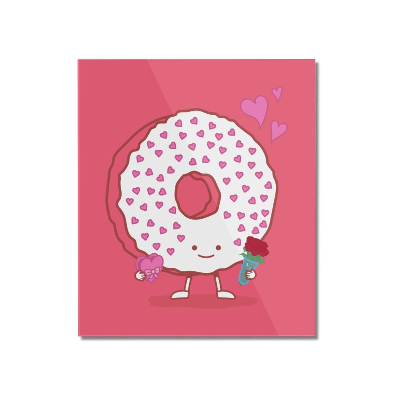 Valentine's Day Donut Home Mounted Acrylic Print by nickv47