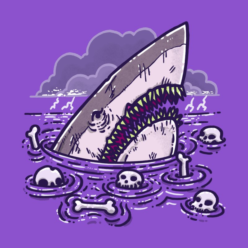 Nighmare Shark Men's T-Shirt by nickv47