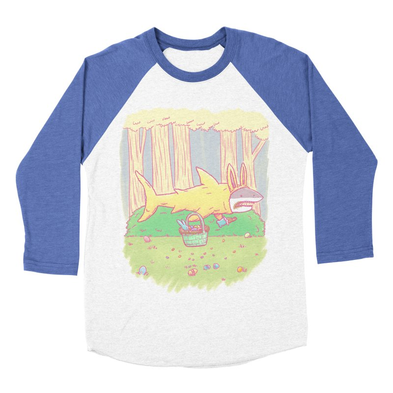 The Easter Bunny Shark Men's Baseball Triblend T-Shirt by nickv47