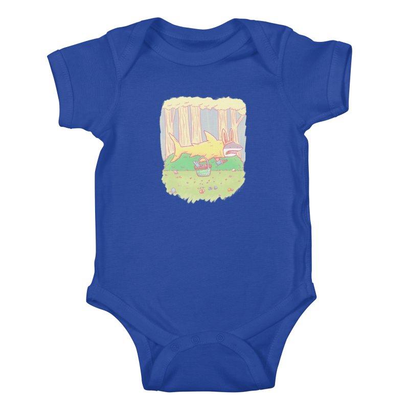 The Easter Bunny Shark Kids Baby Bodysuit by nickv47