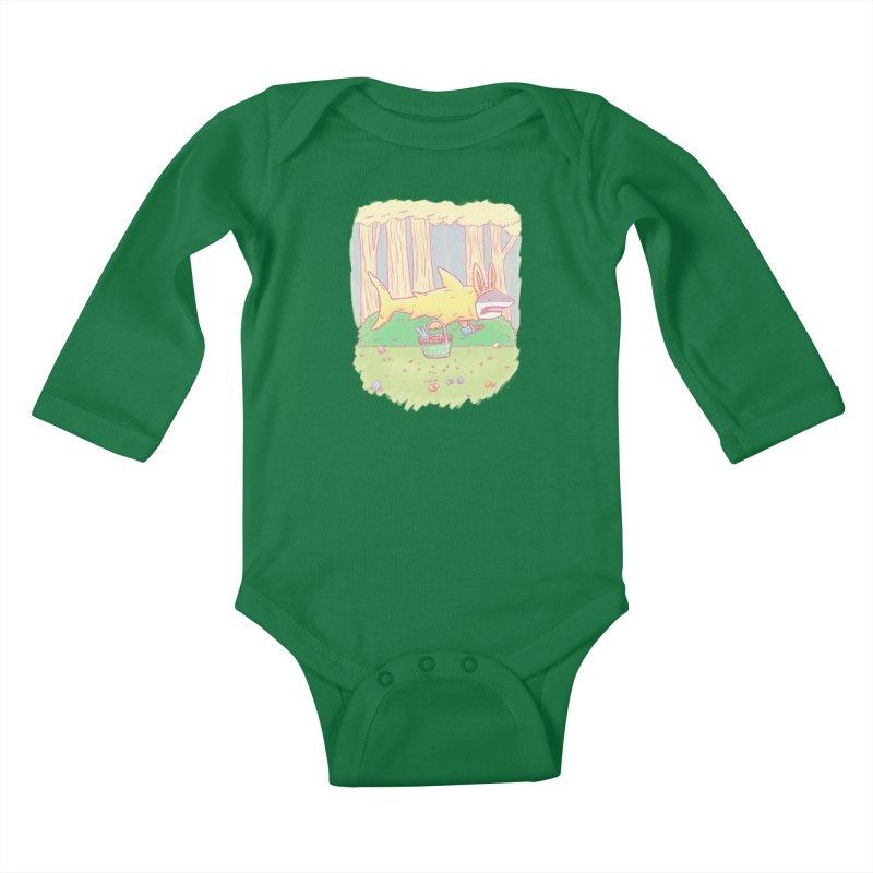 The Easter Bunny Shark Kids Baby Longsleeve Bodysuit by nickv47