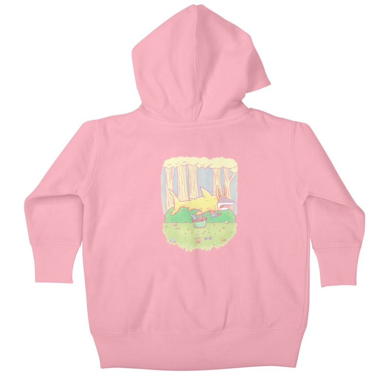 The Easter Bunny Shark Kids Baby Zip-Up Hoody by nickv47