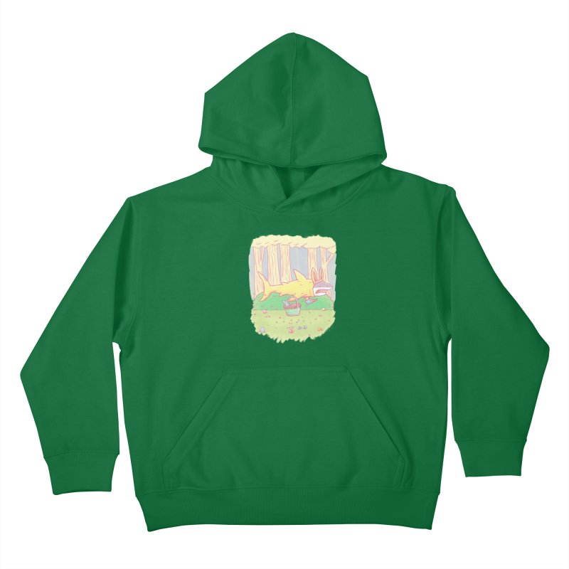 The Easter Bunny Shark Kids Pullover Hoody by nickv47