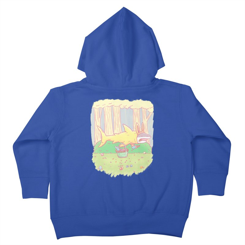 The Easter Bunny Shark Kids Toddler Zip-Up Hoody by nickv47