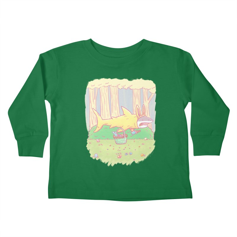 The Easter Bunny Shark Kids Toddler Longsleeve T-Shirt by nickv47