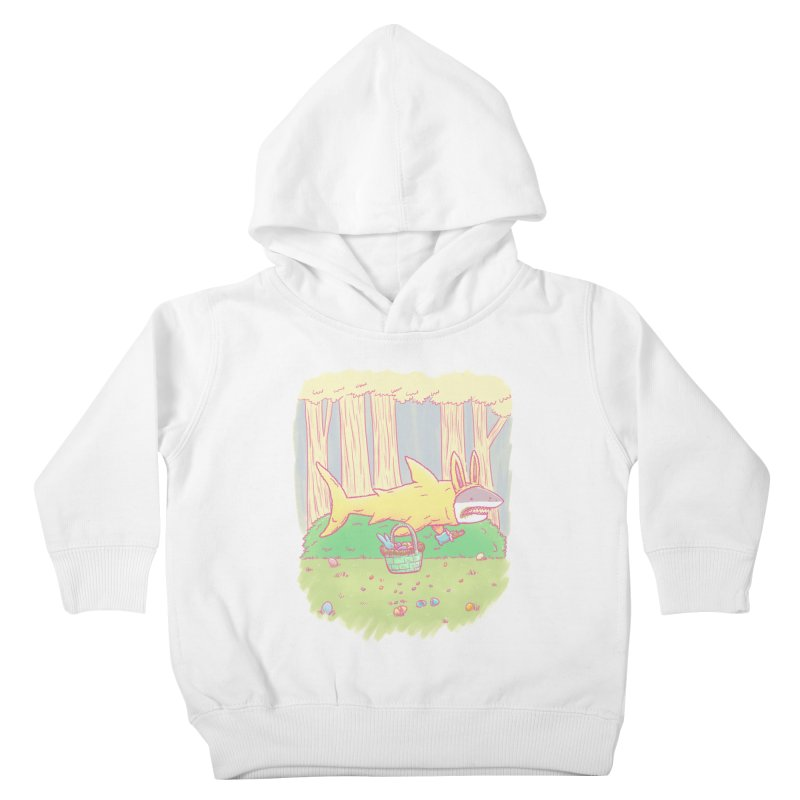 The Easter Bunny Shark Kids Toddler Pullover Hoody by nickv47