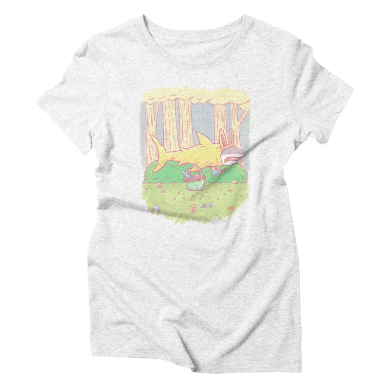 The Easter Bunny Shark Women's Triblend T-shirt by nickv47