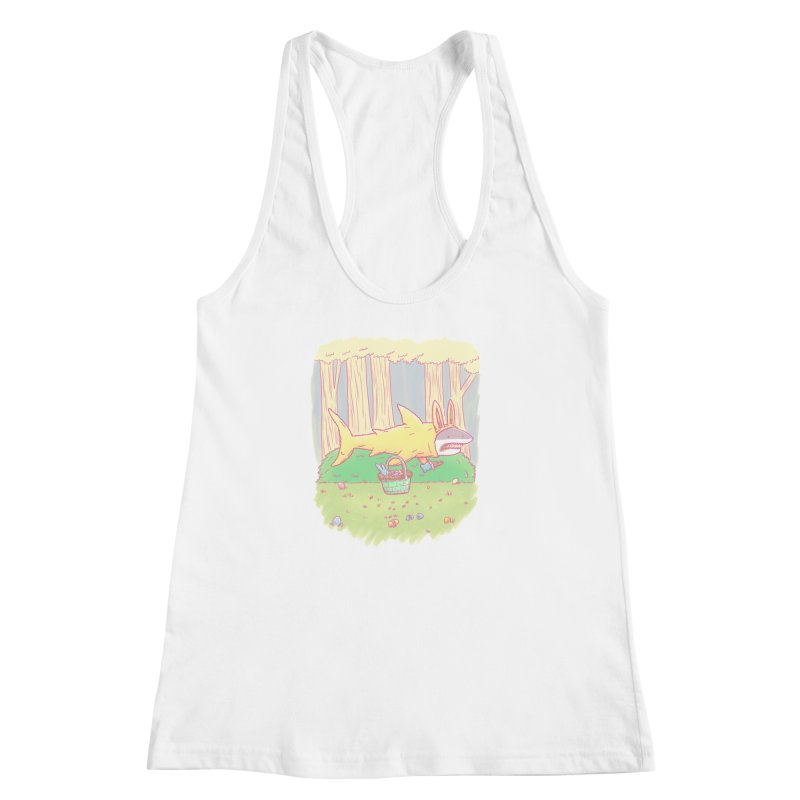 The Easter Bunny Shark Women's Racerback Tank by nickv47
