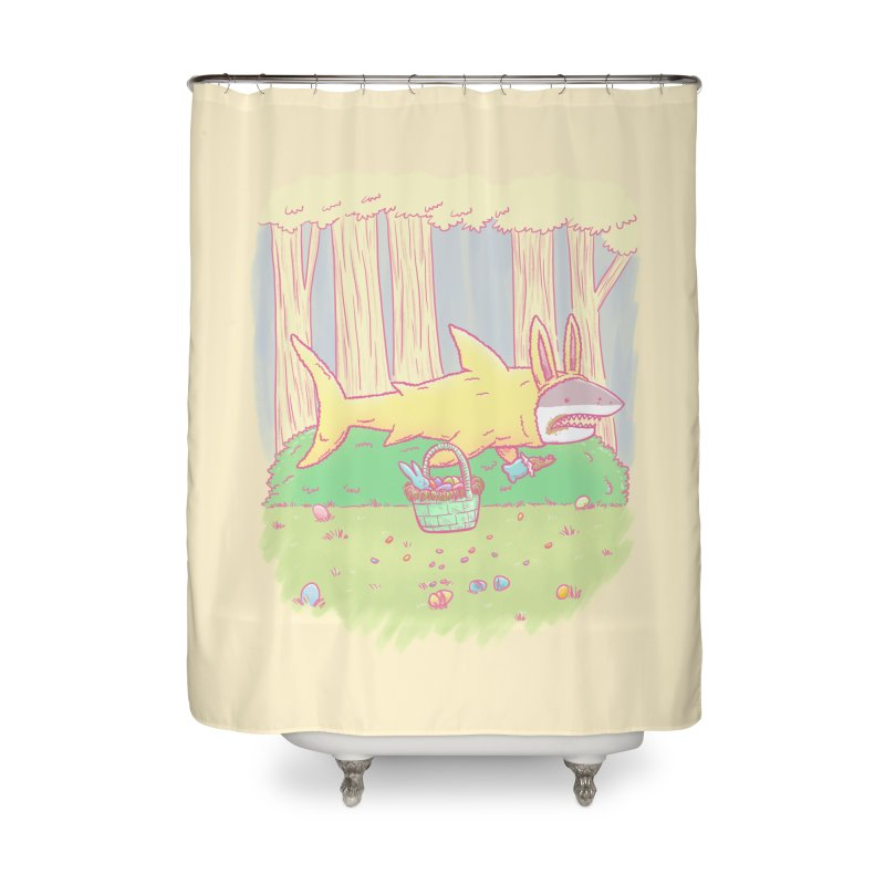 The Easter Bunny Shark Home Shower Curtain by nickv47