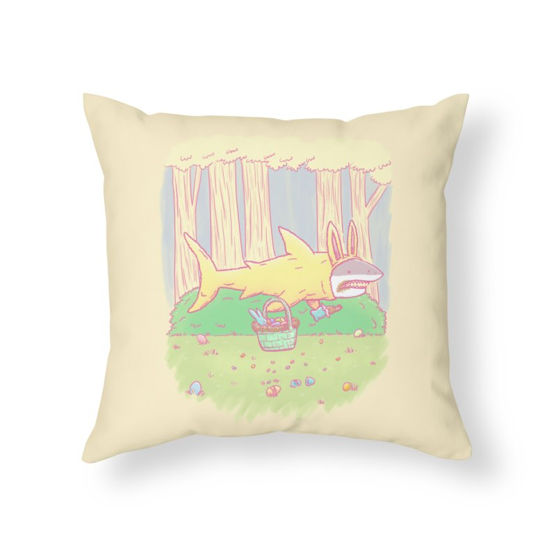 The Easter Bunny Shark Home Throw Pillow by nickv47
