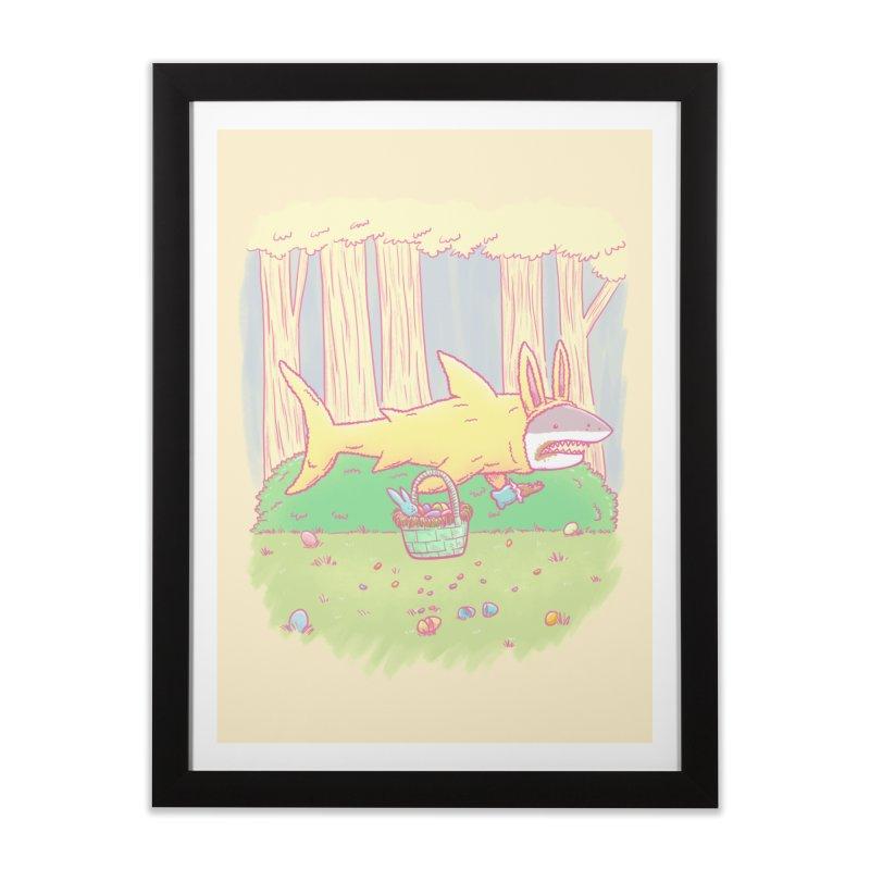 The Easter Bunny Shark Home Framed Fine Art Print by nickv47