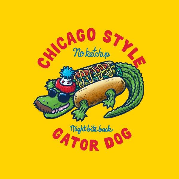 image for Da Chicago Gator Dog Text Tee