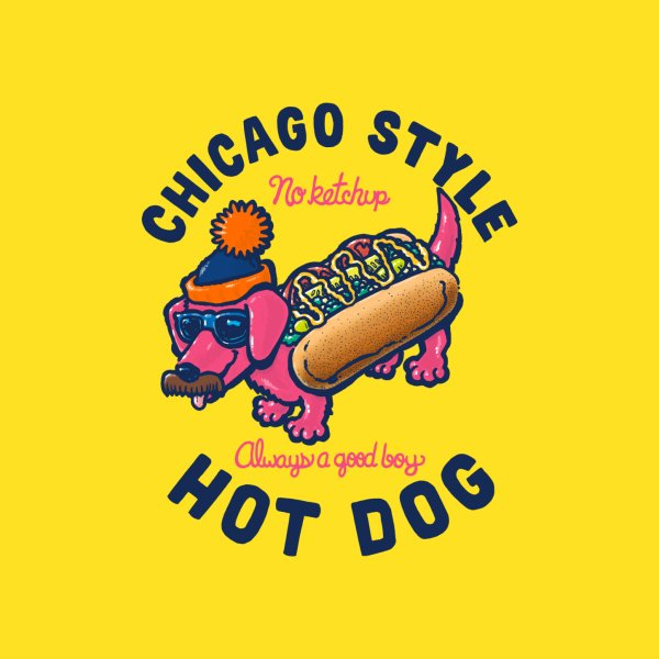 image for Da Chicago Dog With Text