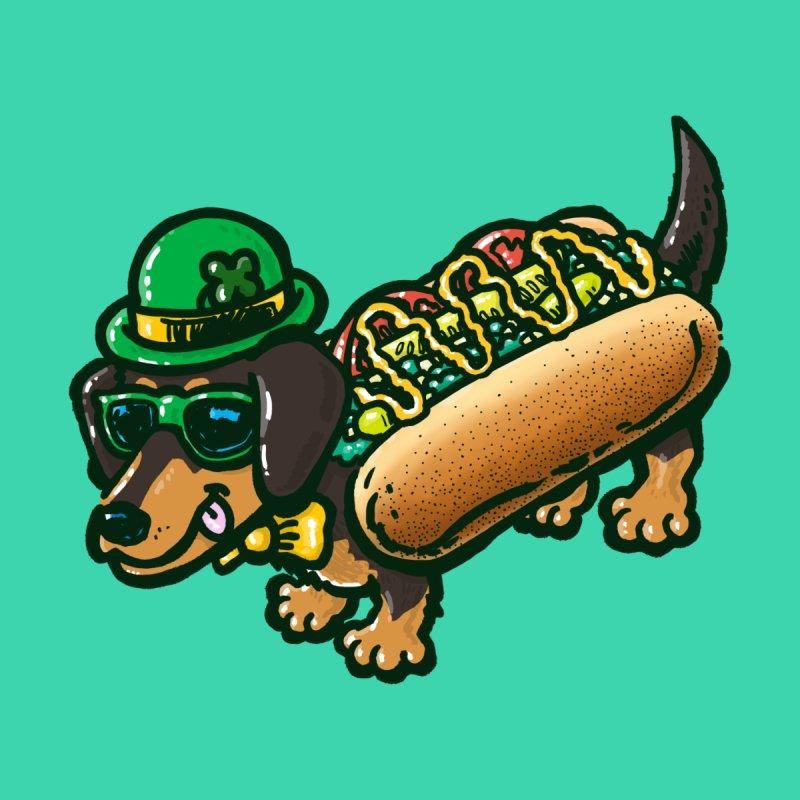 St Patricks Day Chicago Dog Men's T-Shirt by nickv47