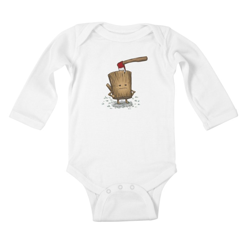 Bad Day Log 3: Splitting Headache Kids Baby Longsleeve Bodysuit by nickv47