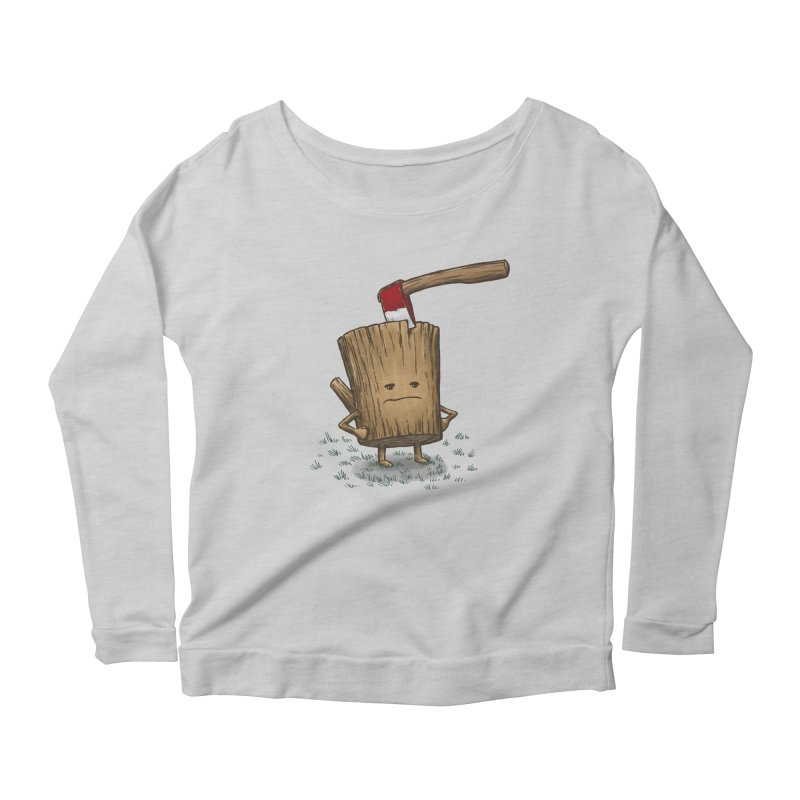 Bad Day Log 3: Splitting Headache Women's Longsleeve Scoopneck  by nickv47