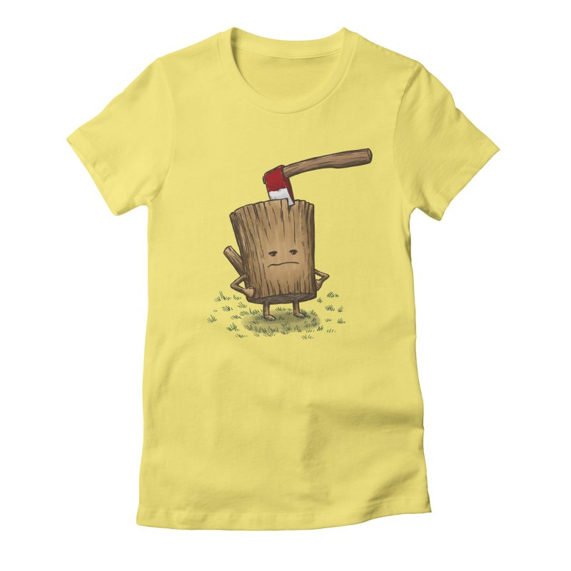 Bad Day Log 3: Splitting Headache Women's Fitted T-Shirt by nickv47
