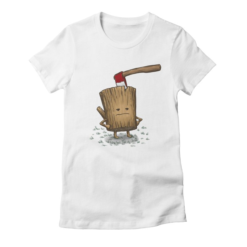 Bad Day Log 3: Splitting Headache Women's Fitted T-Shirt by nickv47