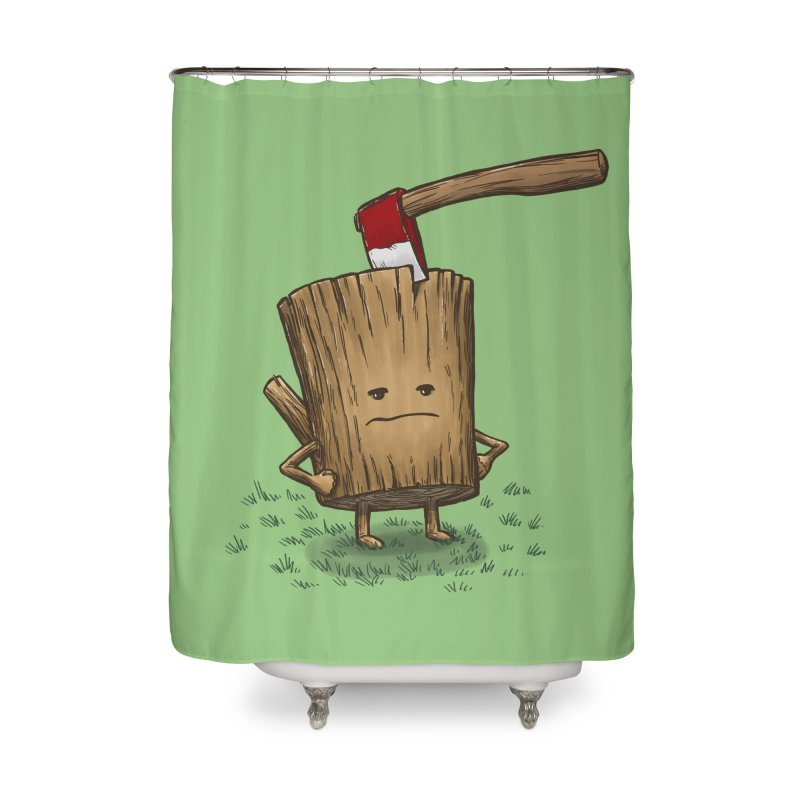 Bad Day Log 3: Splitting Headache Home Shower Curtain by nickv47
