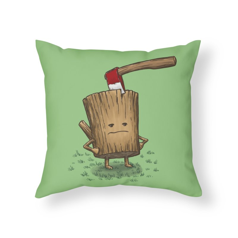 Bad Day Log 3: Splitting Headache Home Throw Pillow by nickv47