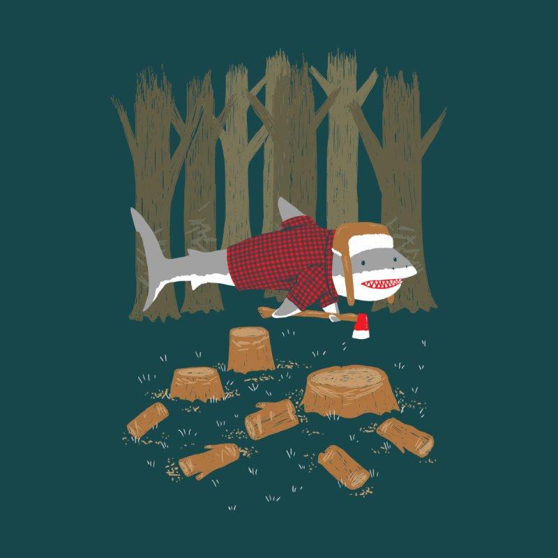 Lumberjack Shark Men's T-Shirt by nickv47