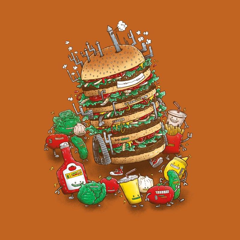 Uber BurgerBot Home Duvet by nickv47