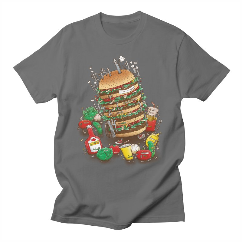 Uber BurgerBot Men's T-Shirt by nickv47