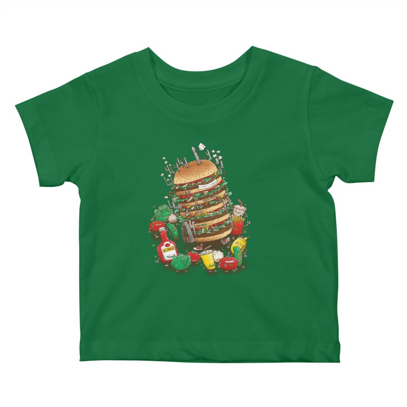 Uber BurgerBot Kids Baby T-Shirt by nickv47
