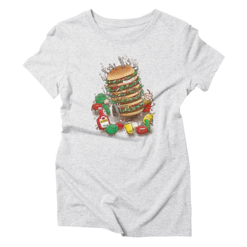 Uber BurgerBot Women's T-Shirt by nickv47