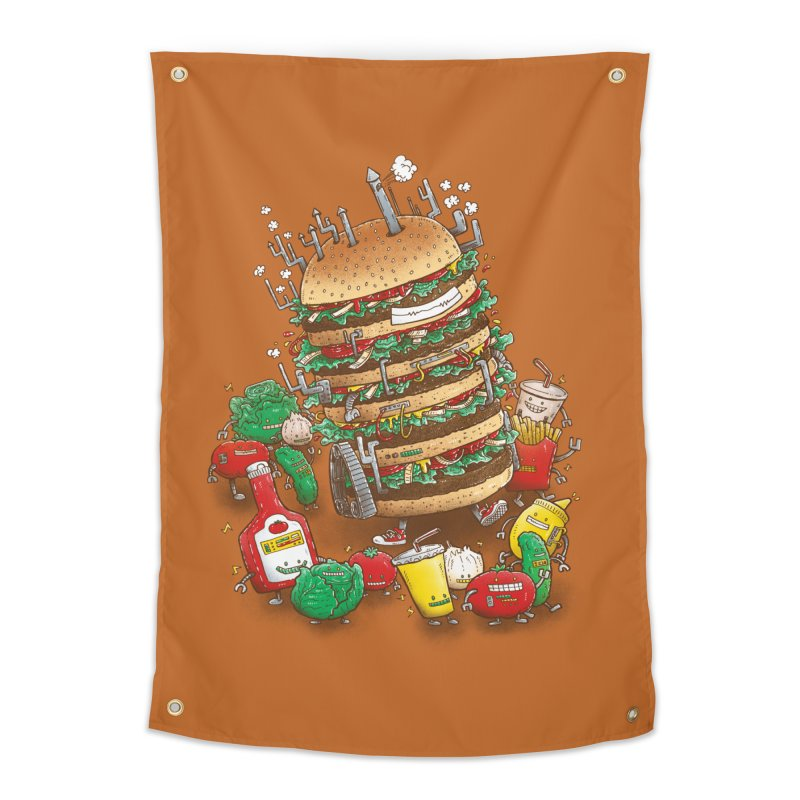 Uber BurgerBot Home Tapestry by nickv47
