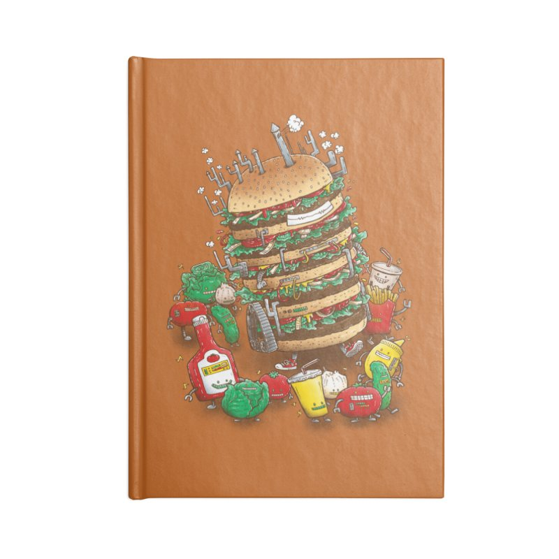 Uber BurgerBot Accessories Notebook by nickv47