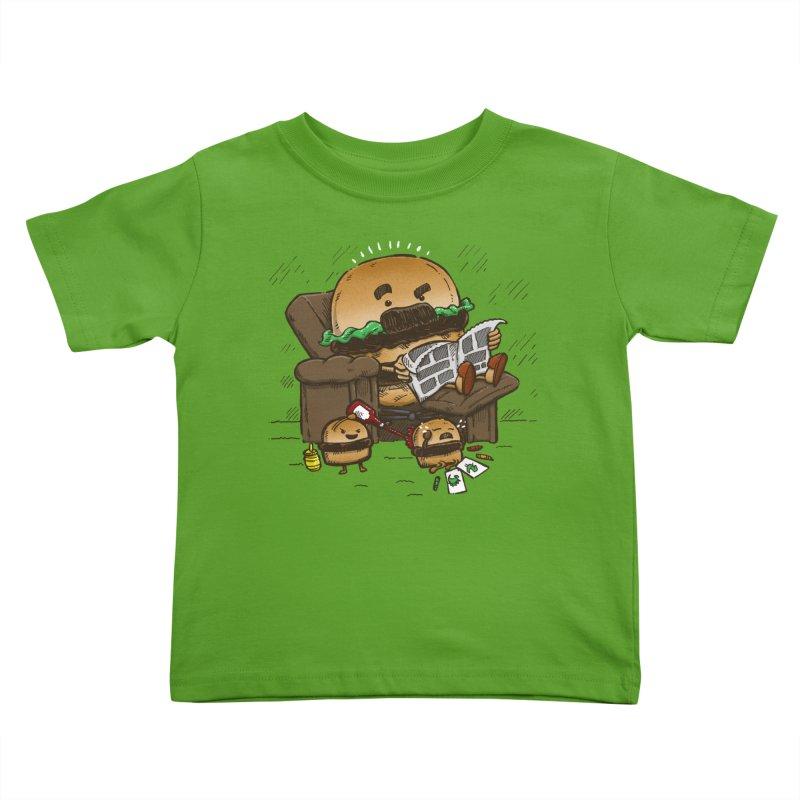 The Dad Burger Kids Toddler T-Shirt by nickv47