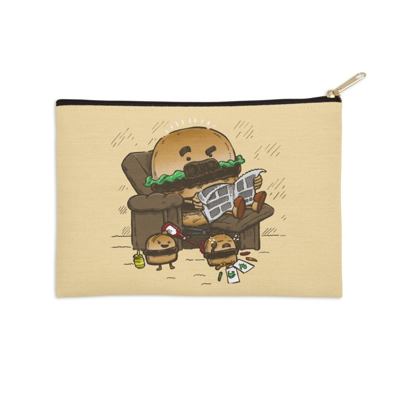 The Dad Burger Accessories Zip Pouch by nickv47
