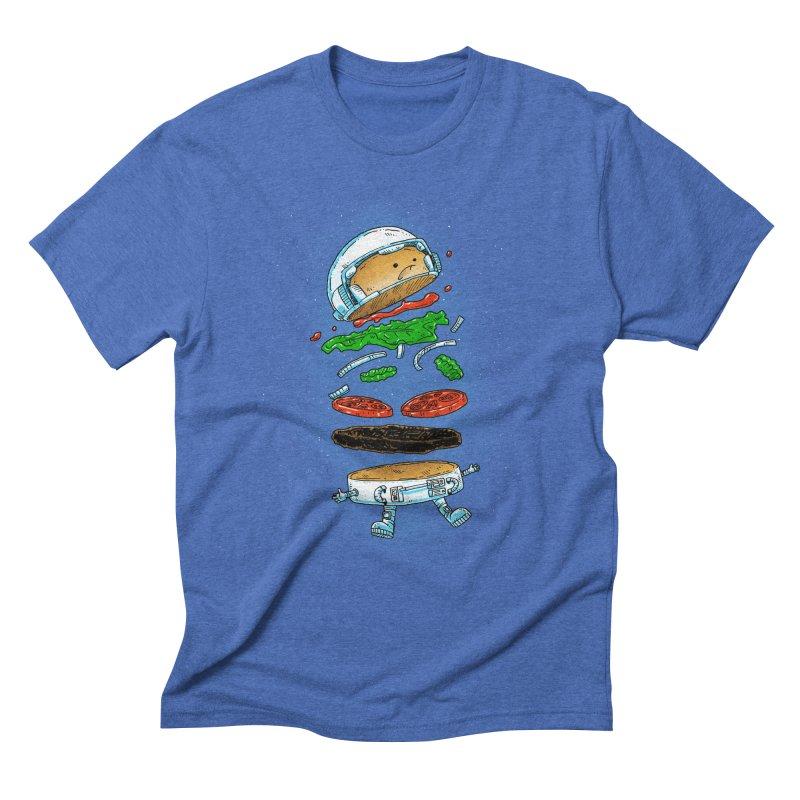 The Astronaut Burger Men's T-Shirt by nickv47