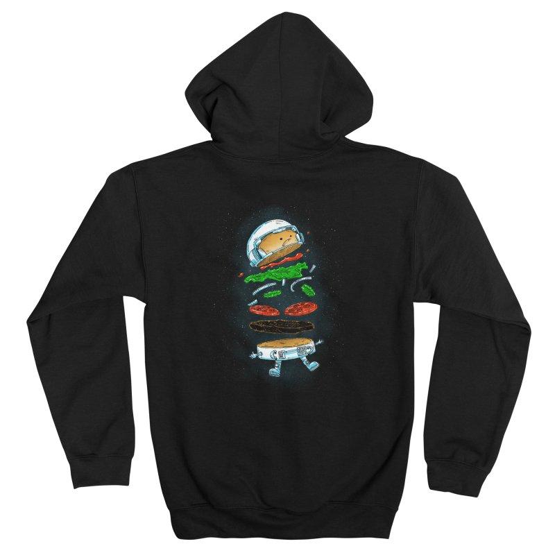 The Astronaut Burger Men's Zip-Up Hoody by nickv47