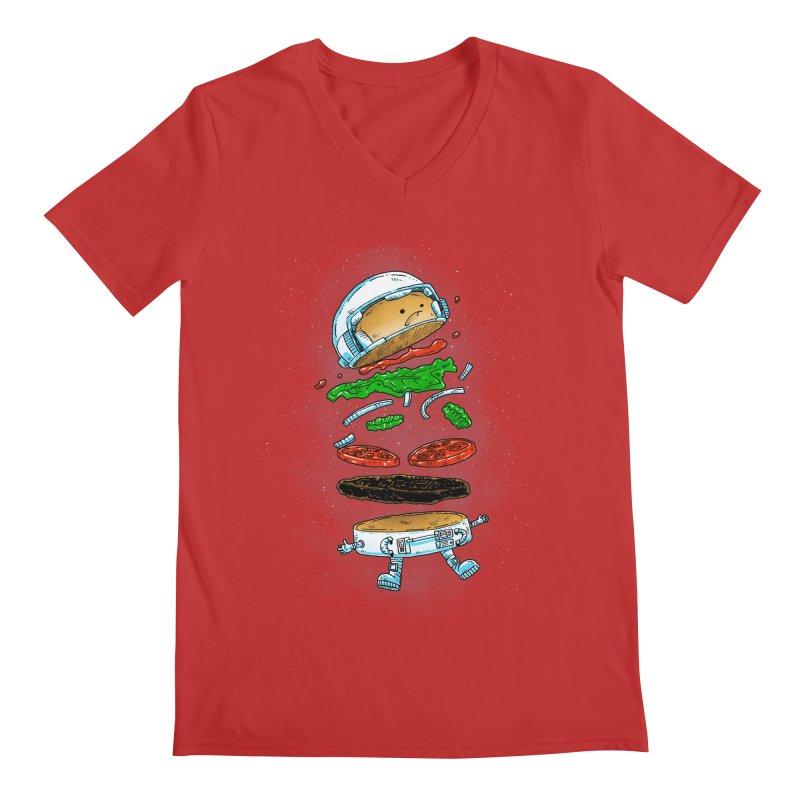The Astronaut Burger Men's V-Neck by nickv47