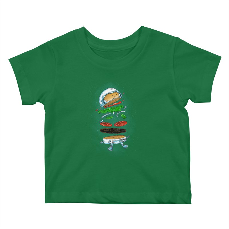 The Astronaut Burger Kids Baby T-Shirt by nickv47