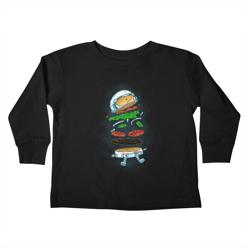 The Astronaut Burger Kids Toddler Longsleeve T-Shirt by nickv47