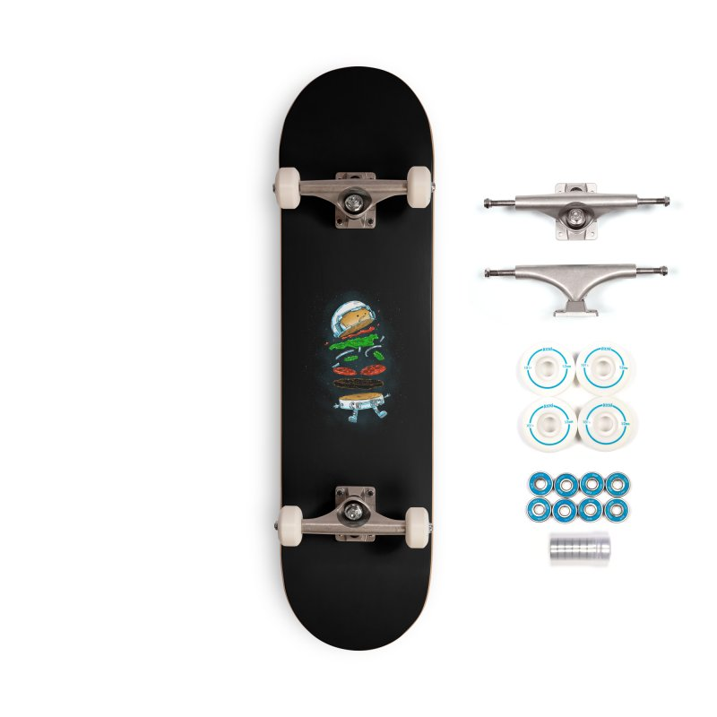 The Astronaut Burger Accessories Skateboard by nickv47