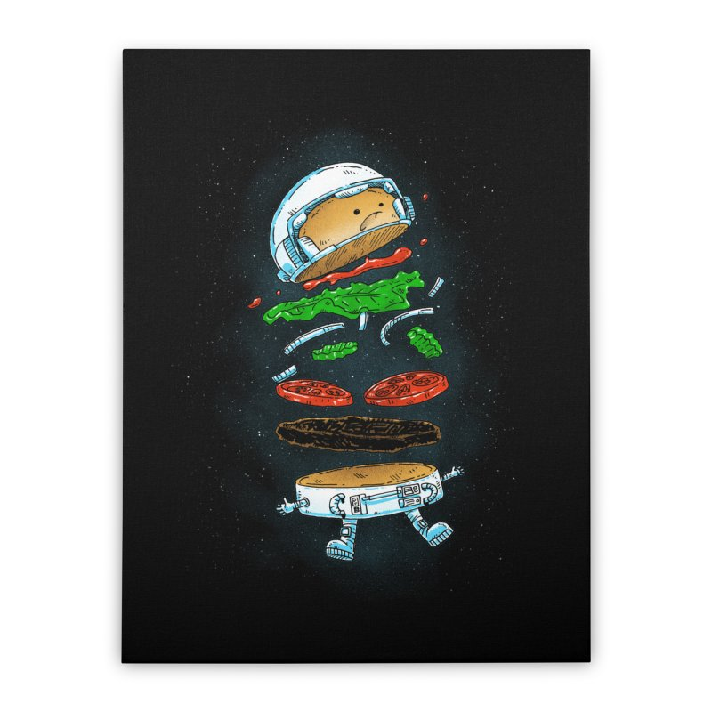 The Astronaut Burger Home Stretched Canvas by nickv47