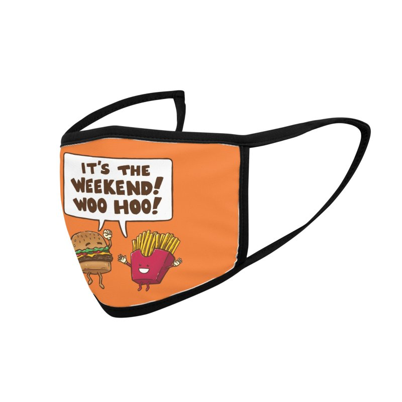 The Weekend Burger Accessories Face Mask by nickv47