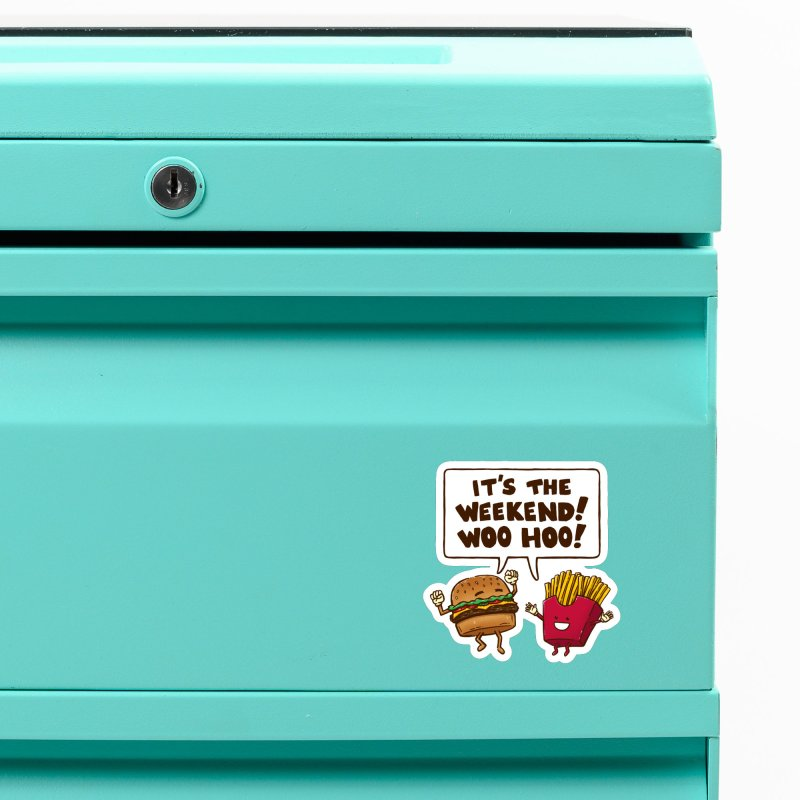 The Weekend Burger Accessories Magnet by nickv47