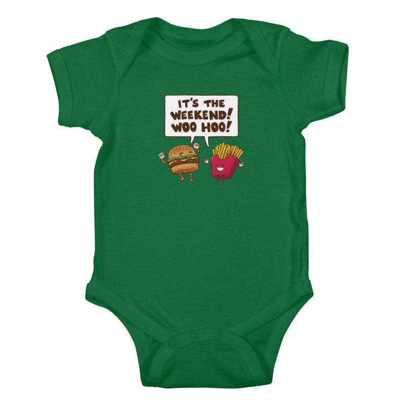The Weekend Burger Kids Baby Bodysuit by nickv47