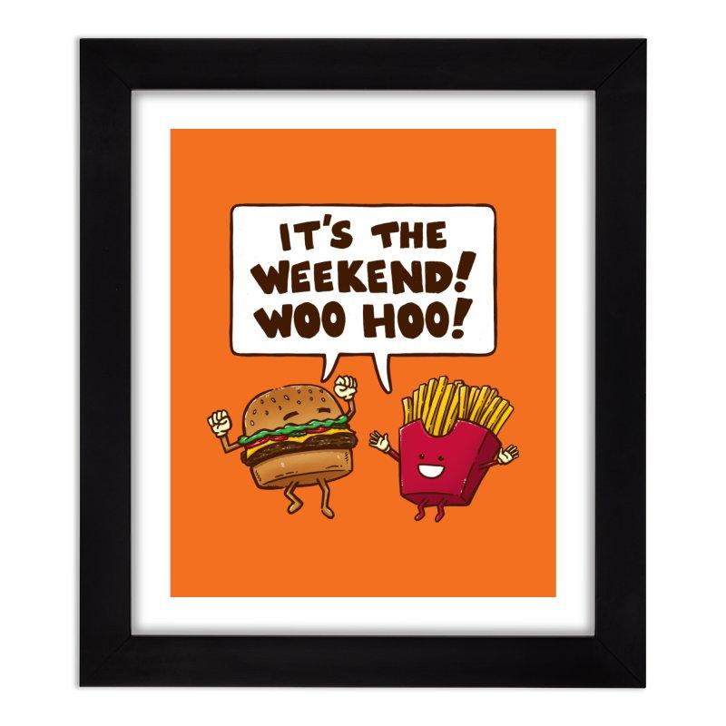 The Weekend Burger Home Framed Fine Art Print by nickv47