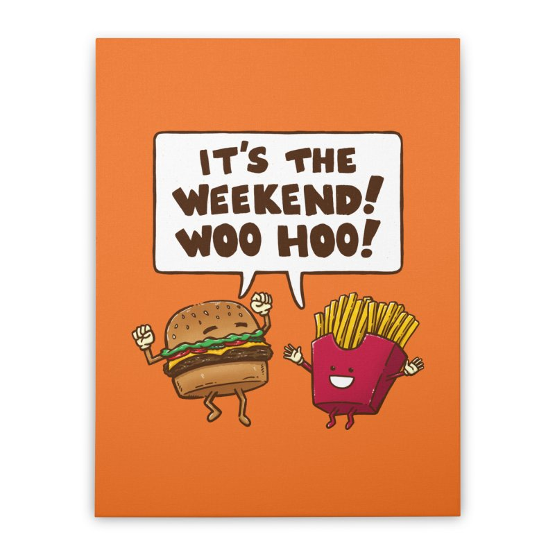 The Weekend Burger Home Stretched Canvas by nickv47