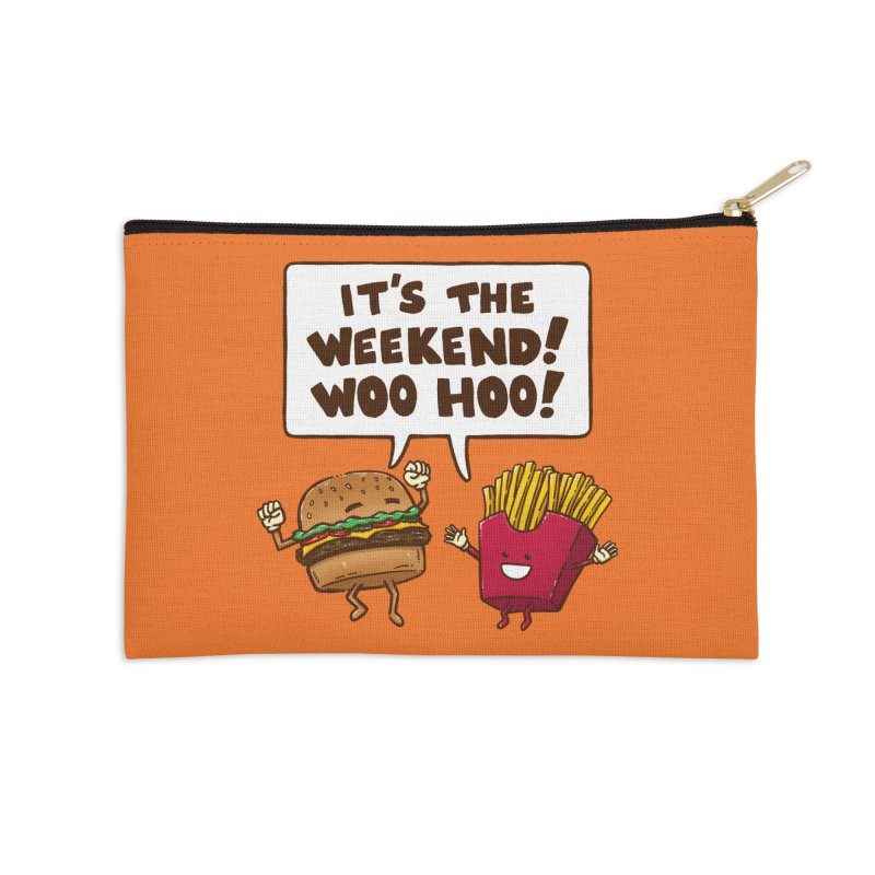 The Weekend Burger Accessories Zip Pouch by nickv47