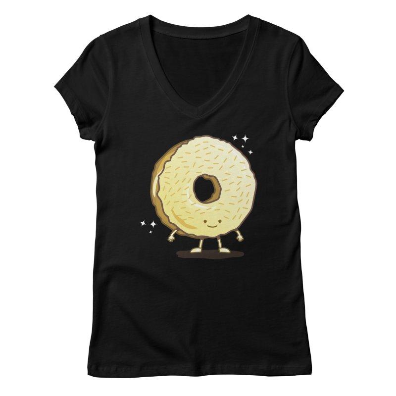 The Golden Donut Women's V-Neck by nickv47