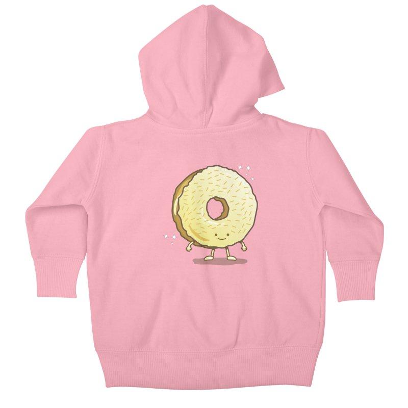 The Golden Donut Kids Baby Zip-Up Hoody by nickv47